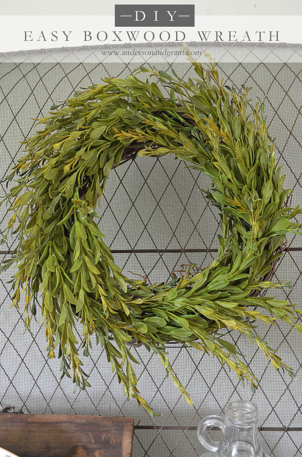 Easy Faux Boxwood Wreath Tutorial