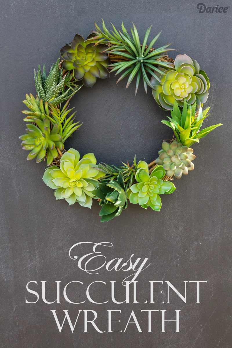 Easy succulent wreath design