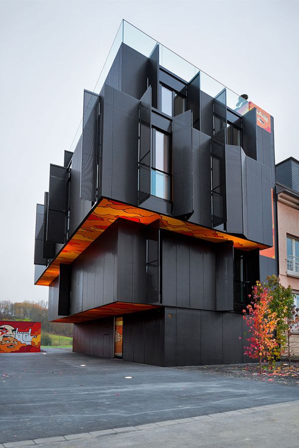 Graffiti Inspired Apartment Building in Luxembourg