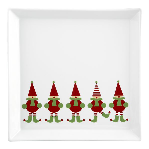 Jingle Elf Platter From Crate And Barrel