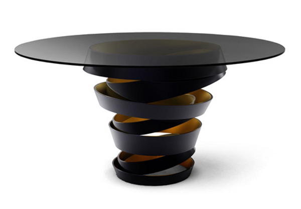 the unique circular base intuition table by koket