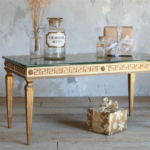 Genial The One Of A Kind Vintage Coffee Table Greek Key