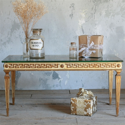 Merveilleux Kind Vintage Coffee Table Greek Key