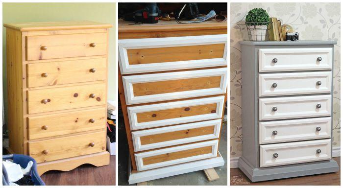 Pine dresser makeover
