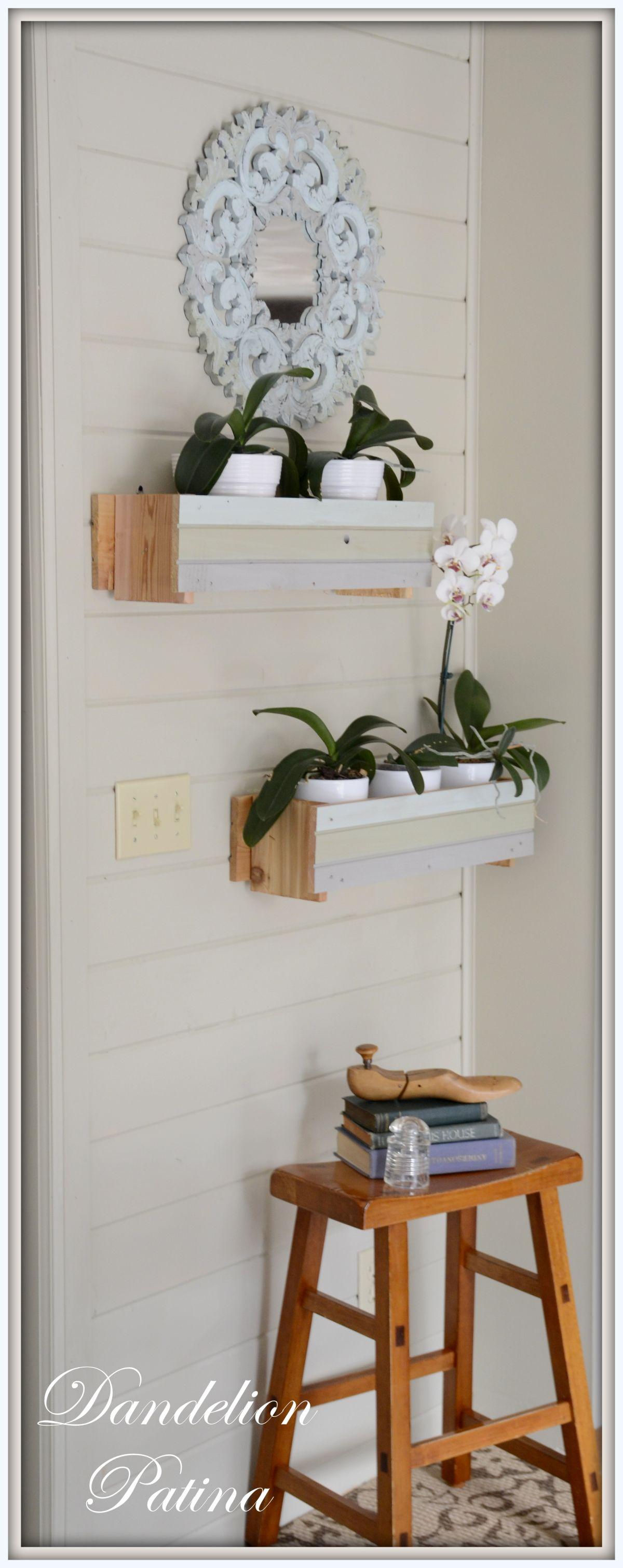 Plank makeover entryway