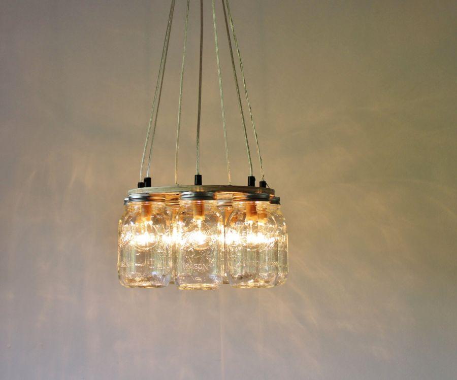 Ring Mason Jar Chandelier Lighting