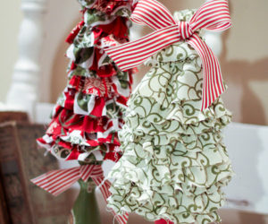 Nice DIY Ruffled Christmas Trees