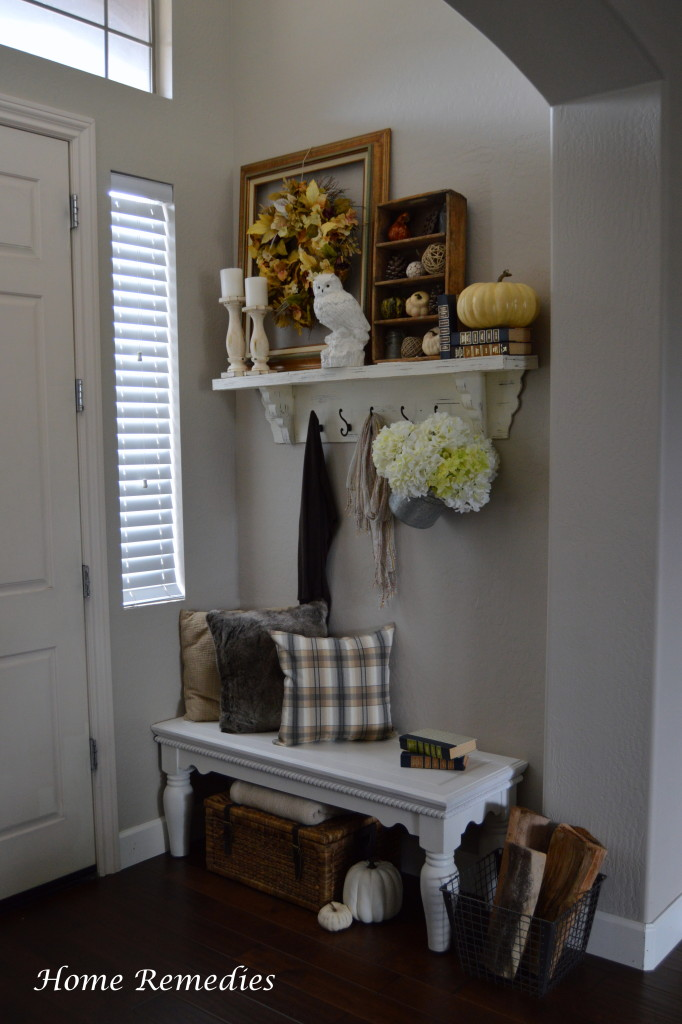 Rustic chic fall entryway