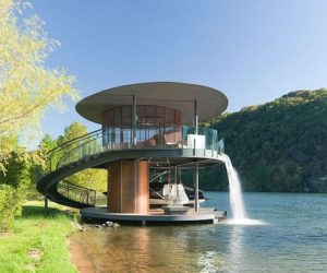 Two-story boat dock in Lake Austin