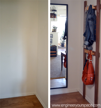 Small entryway coat rack