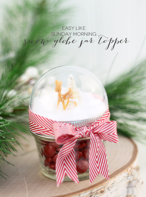 Snow globe toppers