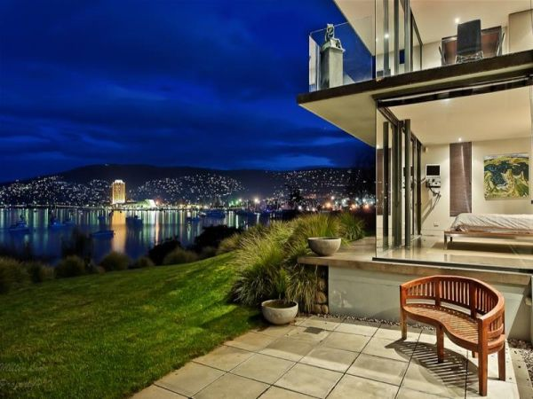 Superb View In Gallery. Table Top Hanging Planter Frame. 00:00 / 00:00. Stunning  Waterfront House In Battery Point, Tasmania Design