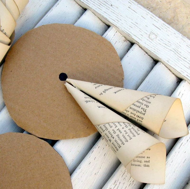 Vintage Paper Wreath DIY