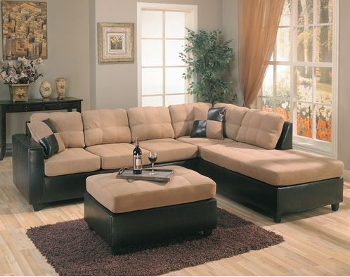 The Elegant Wildon Home Bailey Microfiber Sectional Sofa : elegant sectional sofas - Sectionals, Sofas & Couches