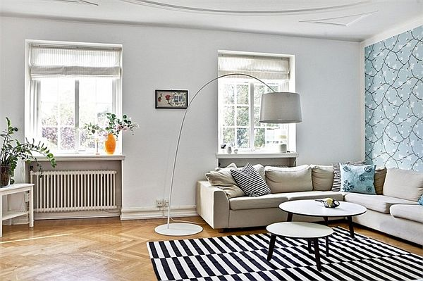 Bright and stylish swedish residence - Papeles para salones ...