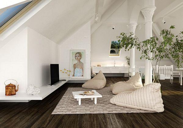Practical Attic Living Space Design Ample Ventilation