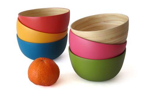 Medium Lacquerware Bowls  sc 1 st  Homedit & Colorful Lacquerware Bowls Handmade of Bamboo