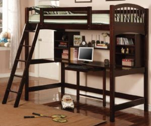 Delightful Fresh Kids Room Design With Twin Beds · The Dorena Twin Workstation Bunk Bed