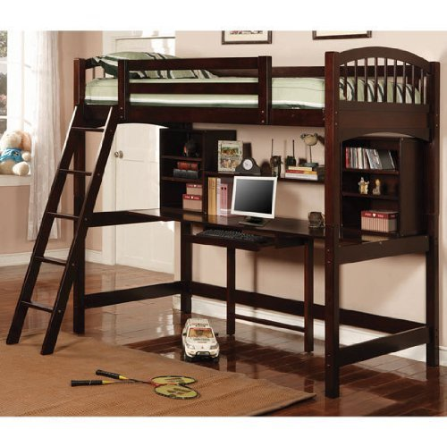Dorena Twin Workstation Bunk Bed In Cuccino