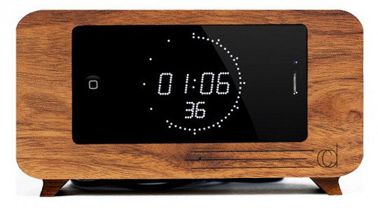 Nice 5 Creative Wooden Alarm Clock IPhone Docks Nice Look