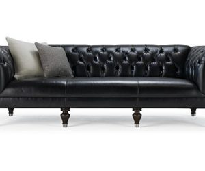 The elegant Chester 100'' leather sofa