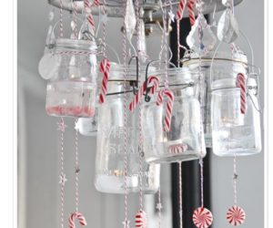 Sweet Christmas DIY Candy Cane Chandelier