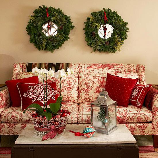 25 christmas living room design ideas for Wohnzimmertisch dekorieren