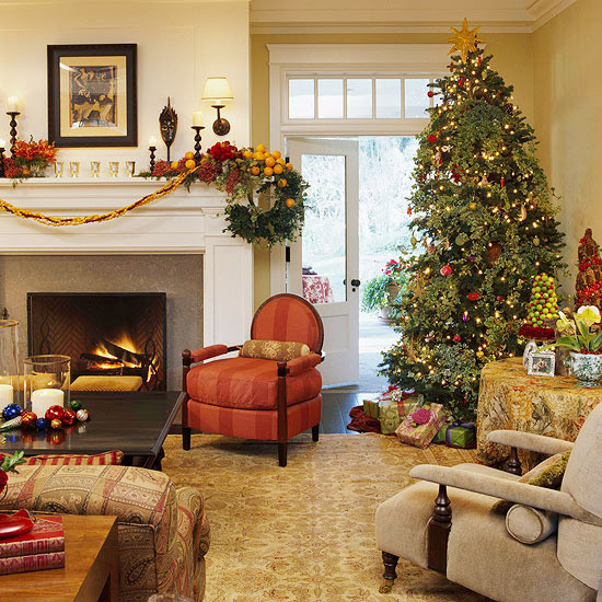 Christmas Tree Living Room 25 christmas living room design ideas