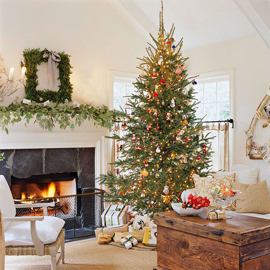 Christmas Tree In Living Room 25 christmas living room design ideas