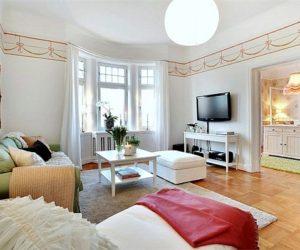 Colorful apartment interior in Gothenburg