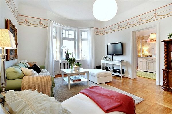 Colorful apartment interior in Gothenburg