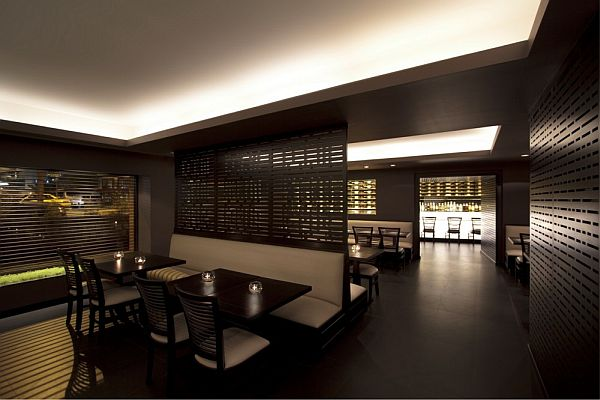 Elegant and comfortable dim sum bar interior design - Interior design of bar ...