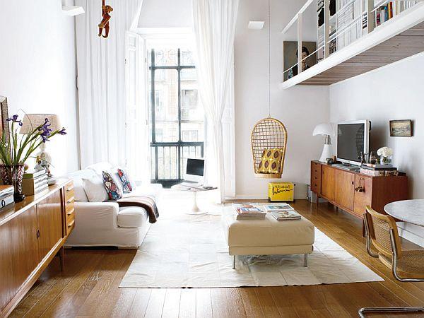 Scandinavian duplex interior design in madrid for Duplex home interior designs