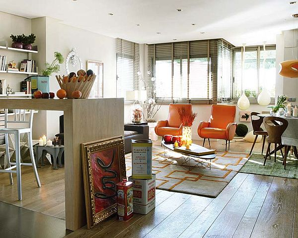 Remodeled and expanded Madrid apartment