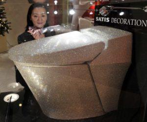 Swarovski Crystals Toilet Design