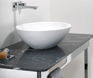 The elegant Gio Marble Washbasin top by Studio 63