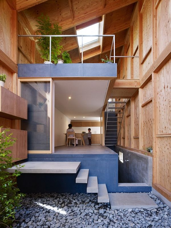 House in a small and narrow site in Kanagawa, Japan on houses in tokyo japan, narrow house interior design, small apartment building in japan, micro houses in japan, tall skinny building in japan,