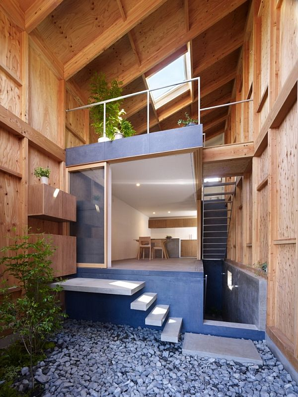 house in a small and narrow site in kanagawa japan. Black Bedroom Furniture Sets. Home Design Ideas