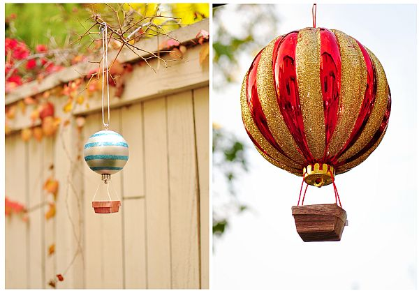 Sparkling And Colorful Diy Hot Air Balloons Christmas