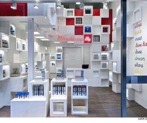 The IllyTemporary Shop Interior Design