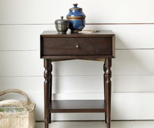 Turned-Leg Nightstand from West Elm