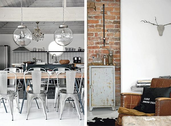 Contrasting 1930s villa with an industrial vintage d cor for 1930s decoration
