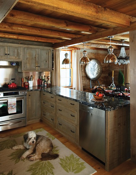 Imaginecozy Staging A Kitchen: Kate Thornley-Hall's Century-old Log Ski Cabin In
