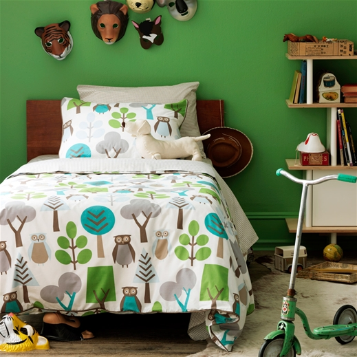 Kids Bedding Owls Sky Duvet Set