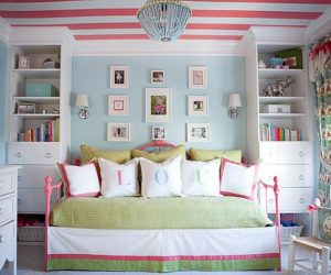 Fun and colorful room designed by Krista Salmon for her girl Lou