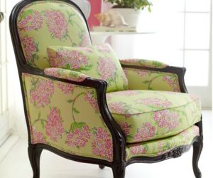 Merveilleux Lauren Chair With A Beautiful Floral Print