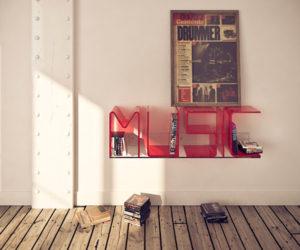 Superb Letter Shelves by Ricard Mollon
