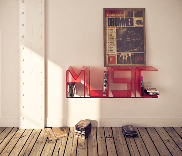 Superb Letter Shelves By Ricard Mollon