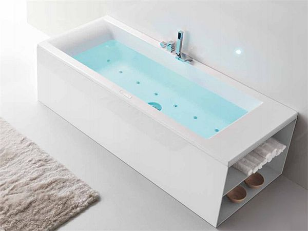 The modern linea mode bathtub for Acrylic vs porcelain tub