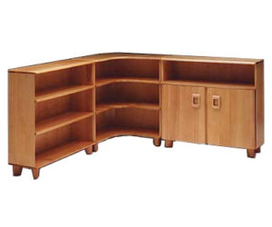 Corner Bookcase from Heywood-Wakefield